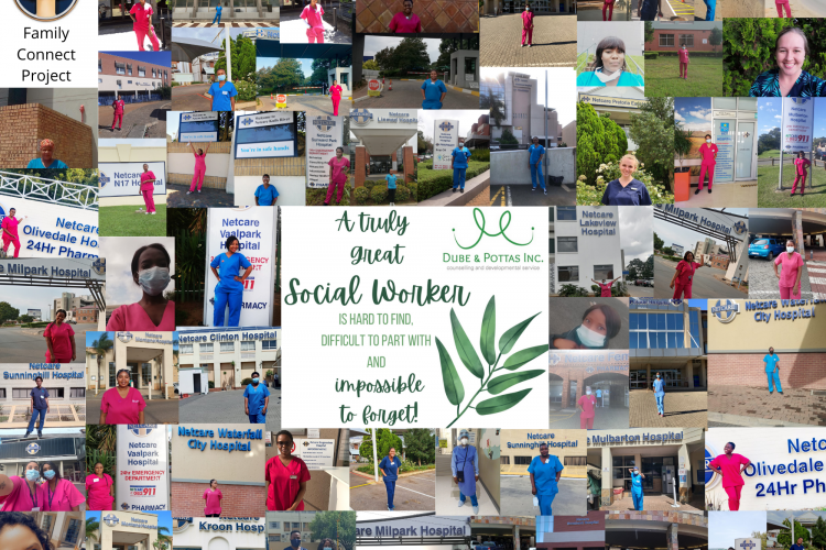 COVID project collage social workers South Africa